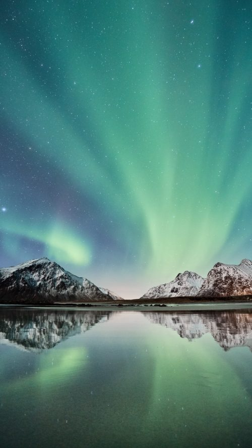 Nature Wallpaper For Mobile Phone With Picture Of Aurora