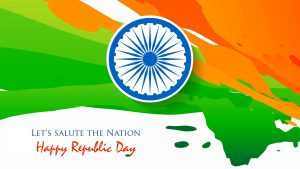 Abstract Artistic Indian Flag Lets Salute The Nation for Happy Republic Day Greeting