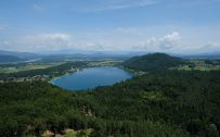 Beautiful Nature Wallpapers with Carinthia Lake Klopein view from the Kitzelberg