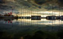 Beautiful Nature Wallpapers with Picture of Ringkøbing Havn in Denmark