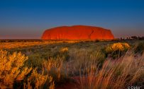 Beautiful Nature Wallpapers with Sunset in Uluru Ayers Rock Australia by DirkV