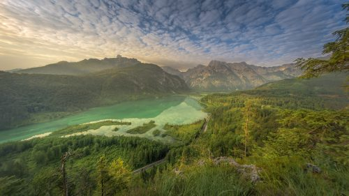 Beautiful Nature Wallpapers with The Almsee in Fisheye Perspective