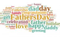Happy Fathers Day Wallpaper with Happy Words Quote