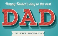 Happy Fathers Day Wallpaper with Simple Greeting