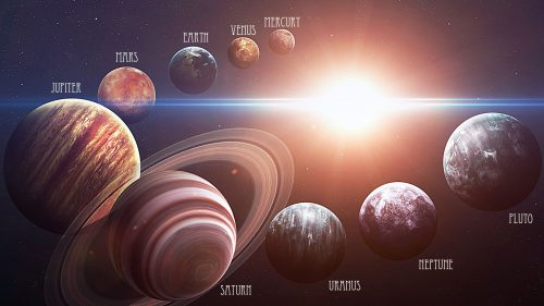 Picture of Sun and Planets in Our Solar System