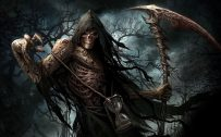 Free Desktop Background with Artistic Grim Reaper HD Wallpaper