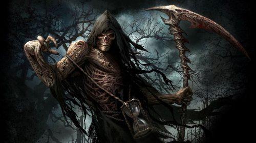 Free Desktop Background with Artistic Grim Reaper HD Wallpaper