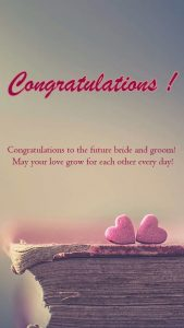 Congratulations Images for Engagement with Love Symbols