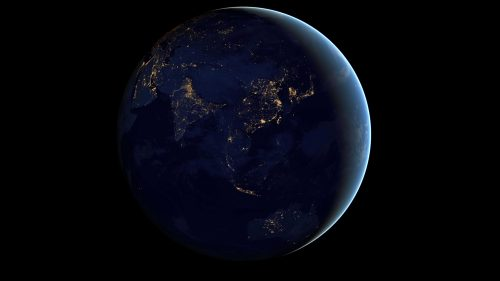 Wallpapers of Earth At Night in 4K Resolution