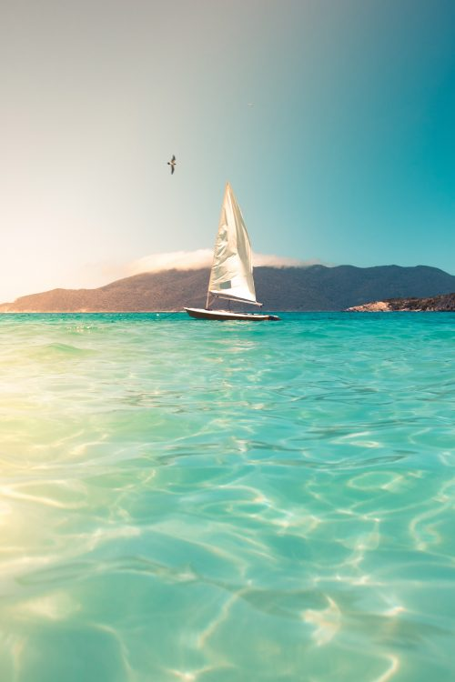 Beach Wallpapers for iPhone 01 of 20 - Photo of Sailing Boat