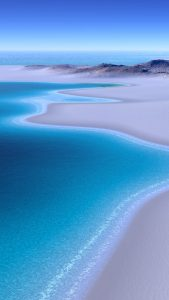 Beach Wallpapers for iPhone 02 of 20 - Beautiful Beach of Blue Ocean