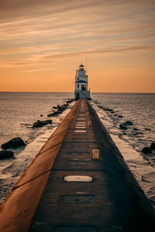 Beach Wallpapers for iPhone 05 of 20 - Lighthouse During Sunset