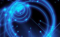 10 Best Artistic Pinterest Pins for Your Samsung A Quantum - #03 - Blue Lights in a Dark Background