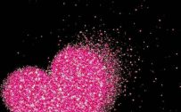 10 Wallpapers That Will Look Perfect On Your Xiaomi Redmi Note 9 Pro #05 - Pink Glitter Love Sign