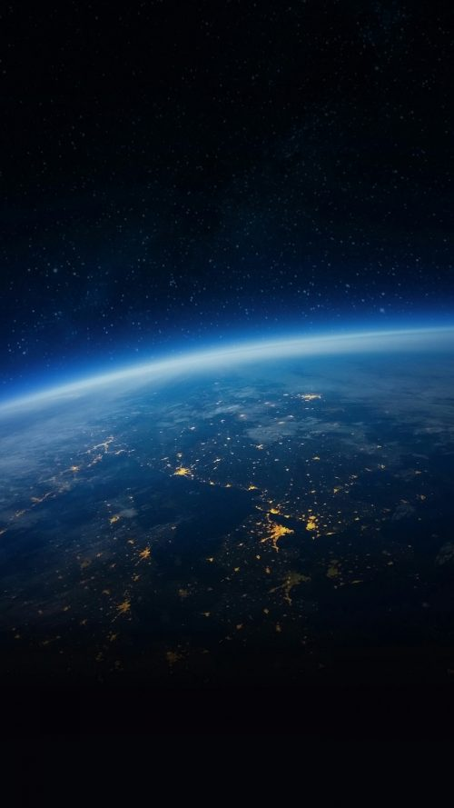 Earth Picture From Space for Smartphone Background with 1080x1920