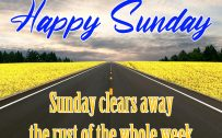 20 Best Sunday Thoughts and Motivational Quotes Images 01 - Sunday clears away