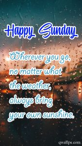 20 Best Sunday Thoughts and Motivational Quotes Images 02 - Always bring your own sunshine