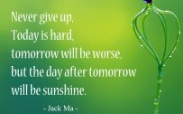 20 Best Thursday Thought Quotes for Greeting Card Design 01 - Never give up