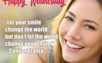 20 Best Wednesday Thought Quotes Wallpapers 05 - Let your smile change the world