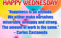 20 Best Wednesday Thought Quotes Wallpapers 07 - Happiness is an attitude