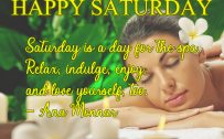 20 Saturday Thought Quotes Wallpapers 05 - Saturday is a day for the spa