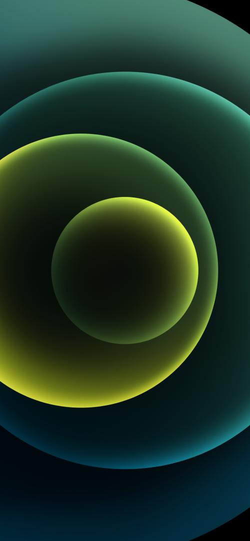Apple iPhone 12 (Mini, Pro, Pro Max) Wallpaper 05 - Green Dark