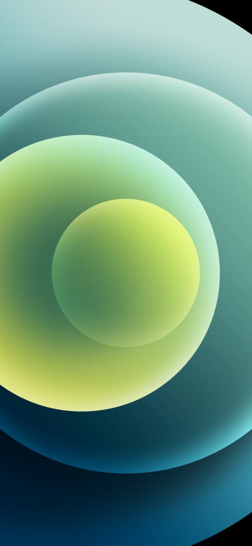 Apple iPhone 12 (Mini, Pro, Pro Max) Wallpaper 06 - Green Light
