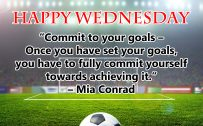20 Best Wednesday Thought Quotes Wallpapers 08 - Commit to your goals