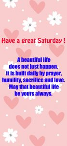 20 Saturday Thought Quotes Wallpapers 06 - A beautiful life