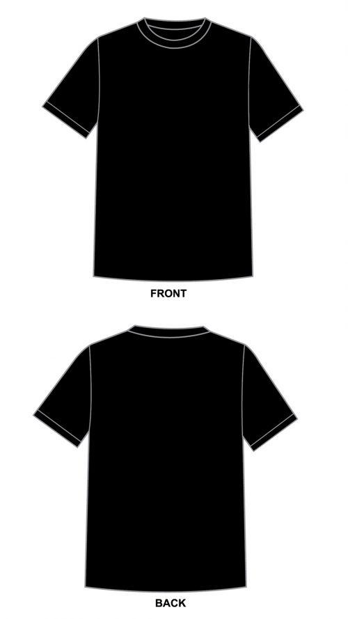 Black Blank Tshirt Template in 1080P