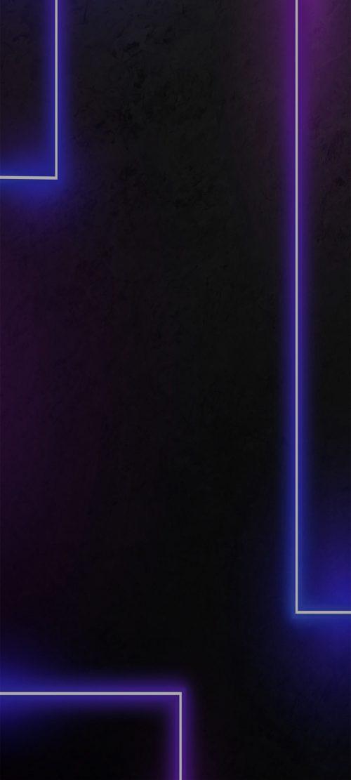 Dark Purple Wallpaper for Smartphone with White Lights