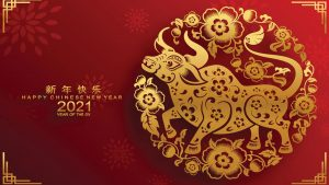 Happy Chinese Lunar New Year 2021 - Year of the Ox