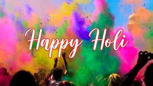 Simple Greeting Card Design for Holi India Celebration