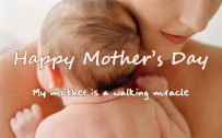 Image of Happy Mother's Day with Simple Quote - My Mother is a walking miracle