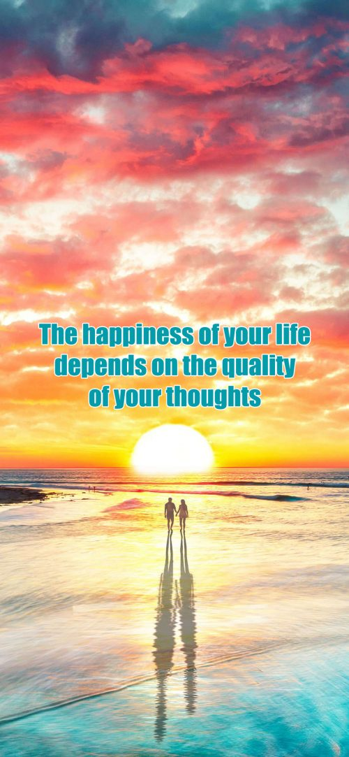 Inspirational Wallpapers for Mobile with Quotes - The happiness of your life