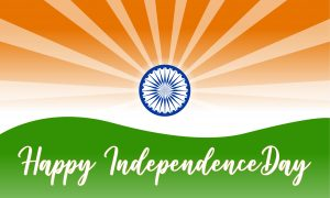 Happy Indian Independence Day Background with Artistic Design