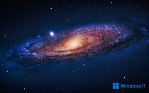 Windows 11 Wallpaper for PC Desktop Background with Galaxy Picture