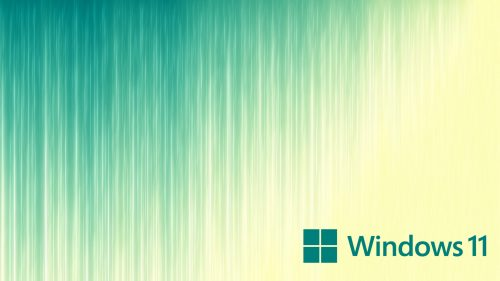 Artistic Wallpaper for Windows 11 Desktop Background with Vertical Lines and Official Logo
