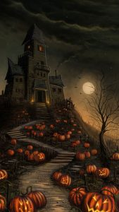 Happy Halloween Wallpaper for Smartphone with 1080x1920 Resolution