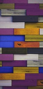 Full HD Wallpaper for Xiaomi Redmi with Colorful Wood Patterns