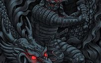 Cool and Badass Wallpapers for Smartphones 01 of 20 - Dragon and Samurai