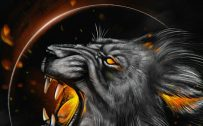 Cool and Badass Wallpapers for Smartphones 07 of 20 - Lion Head and Moon